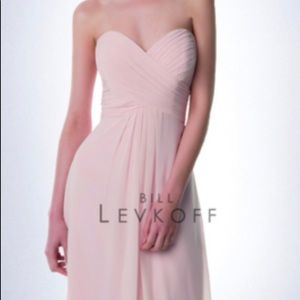 Bill Levkoff short strapless pink dress